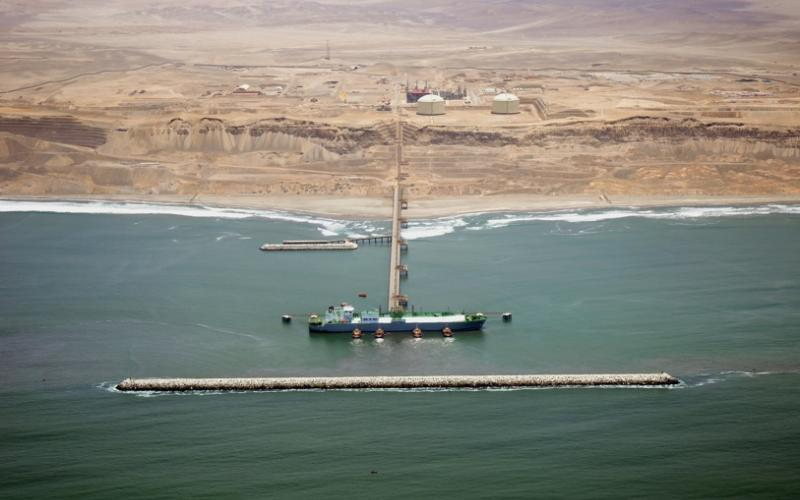 Peru Liquefied Natural Gas terminal in daylight
